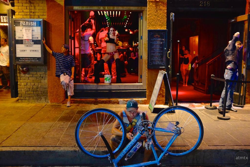 Bike Repair, 6th Street - Austin, Texas