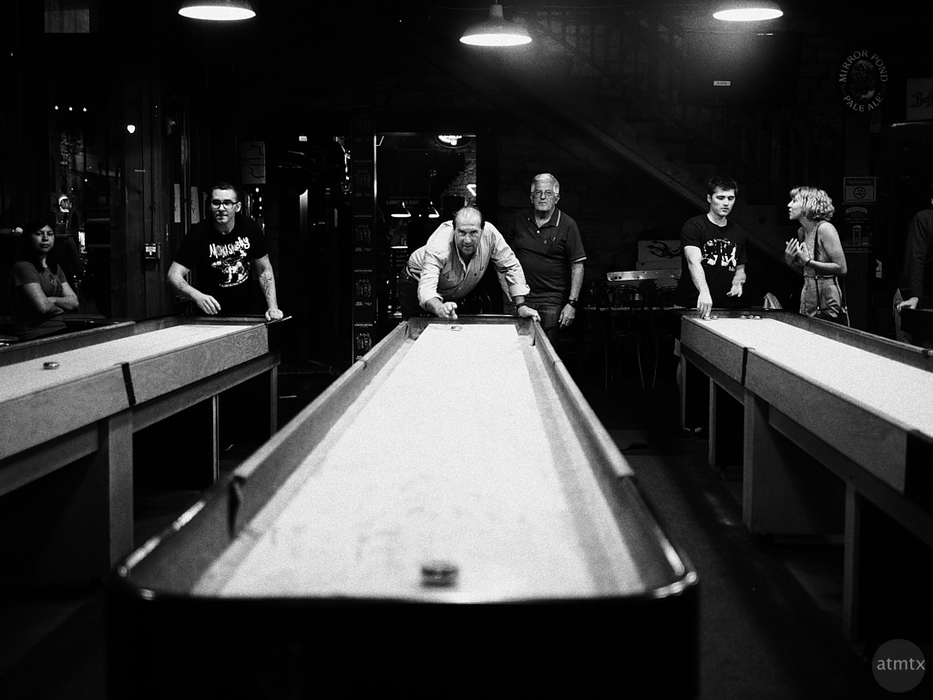 Indoor Shuffleboarders, 6th Street - Austin, Texas