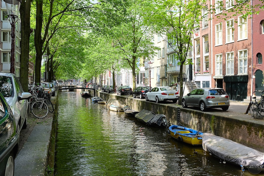 A residential canal - Amsterdam, Netherlands