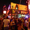 Crowd in front of Blues City Cafe - Memphis, Tennessee
