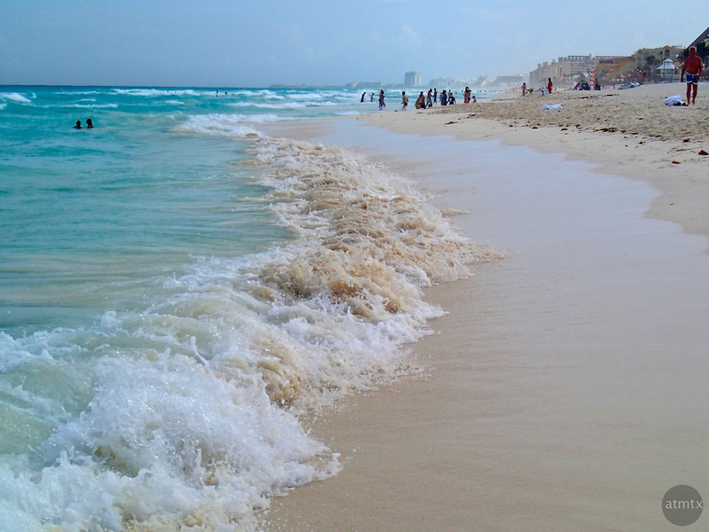 The Divide between Blue and Brown - Cancun, Mexico