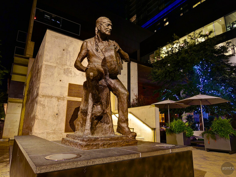 Willie Nelson Statue, 2nd Street - Austin, Texas