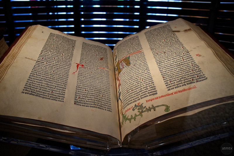 Gutenberg Bible, University of Texas - Austin, Texas