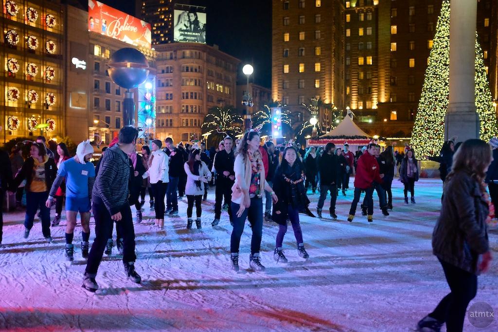 Skating in Union Square - San Francisco, California