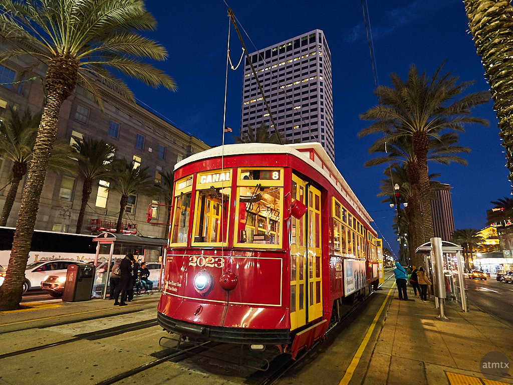 Streetcar at Blue Hour - New Orleans, Louisiana