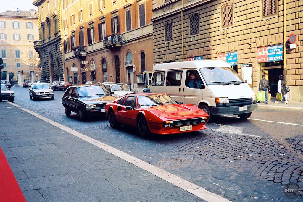 Red Ferrari - Rome, Italy