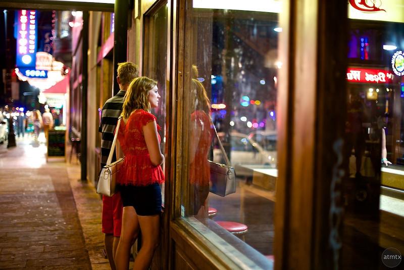 Reflections on 6th Street, Buffalo Billiards - Austin, Texas