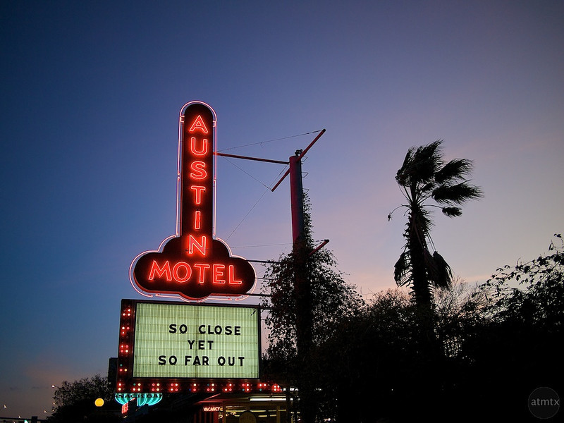 Austin Motel, Approaching Blue Hour - Austin, Texas