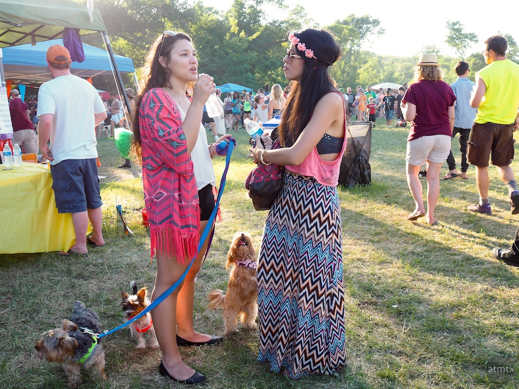 Surrounded by Cute Dogs, Eeyore's Birthday Party 2015 - Austin, Texas