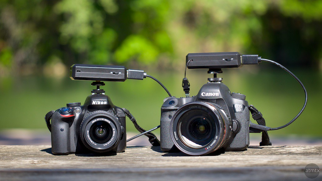 CamFi on DSLR Size Comparison