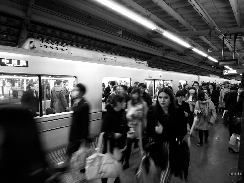 Rushing off the Train - Tokyo, Japan