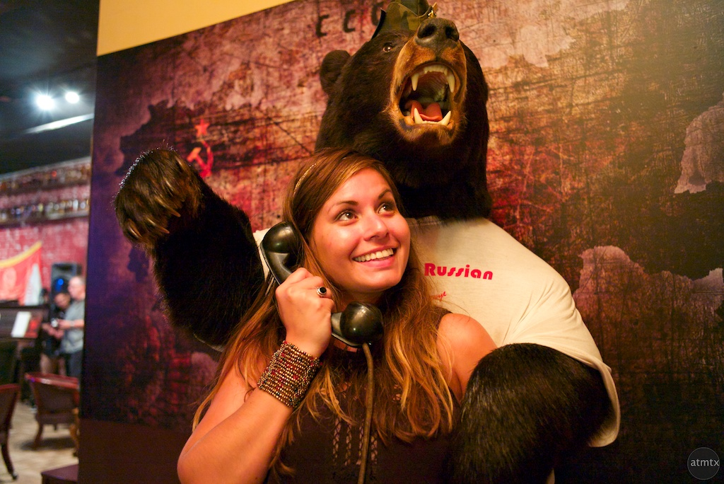 Marie with the Bear, Russian House - Austin, Texas