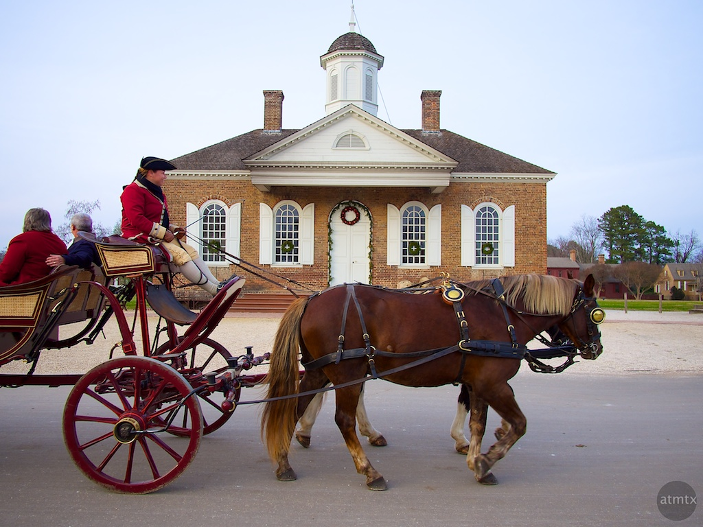 The Carriage and Courthouse - Williamsburg, Virginia
