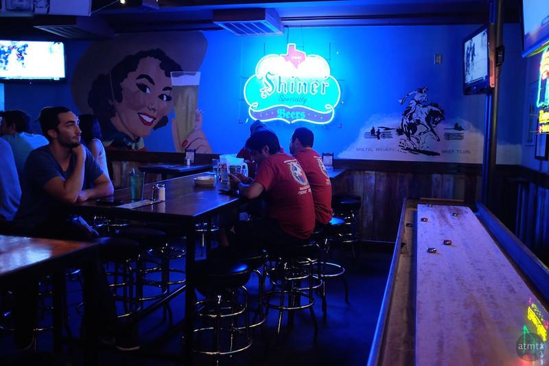 Blue Glow at Docs, South Congress - Austin, Texas