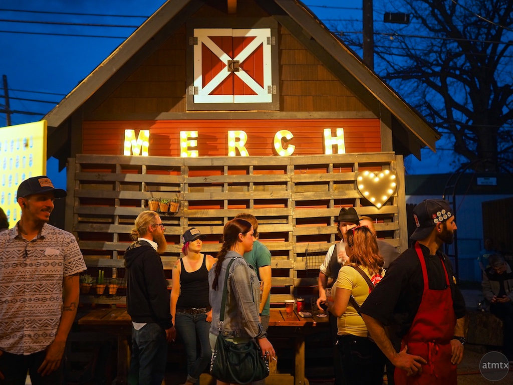 Merch at Bangers, SXSW 2015 - Austin, Texas