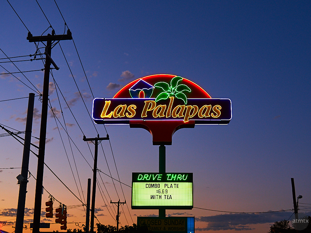 Neon Sign, Las Palapas - San Antonio, Texas