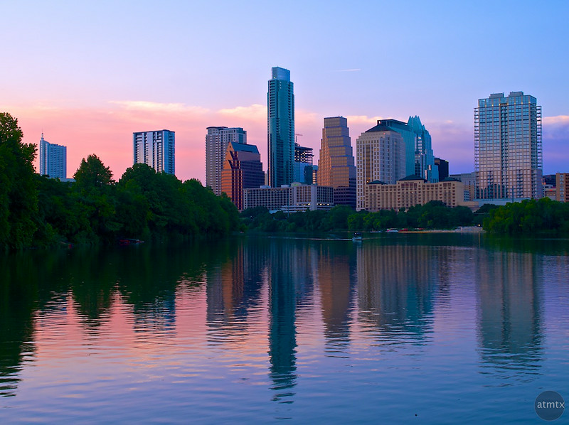 Skyline Sunset from the Boardwalk - Austin, Texas