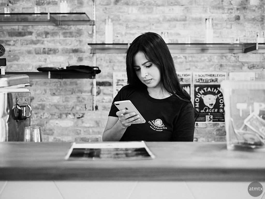Stephanie with iPhone, Four x Five Photo Fest 2018 - San Antonio, Texas