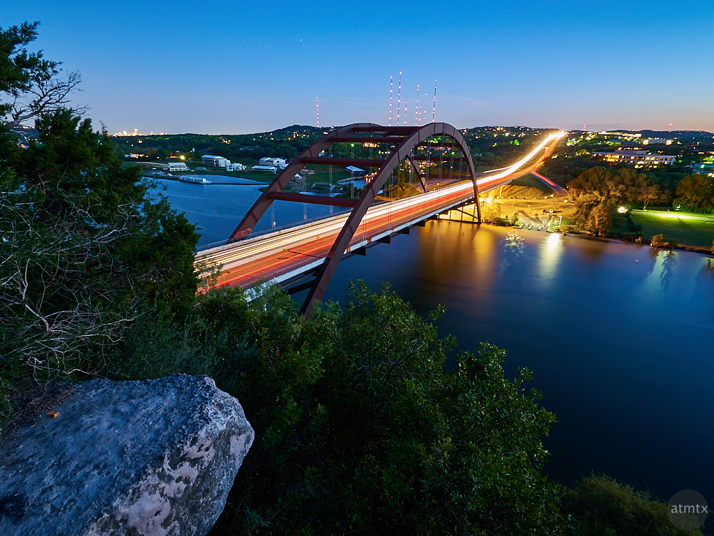 360 Bridge Light Trails - Austin, Texas