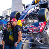 Posing with the Red Bull Racer, Austin Fan Fest 2012 - Austin, Texas