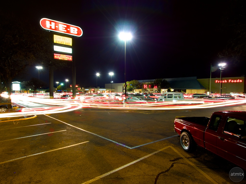 HEB Light Trails - Austin, Texas