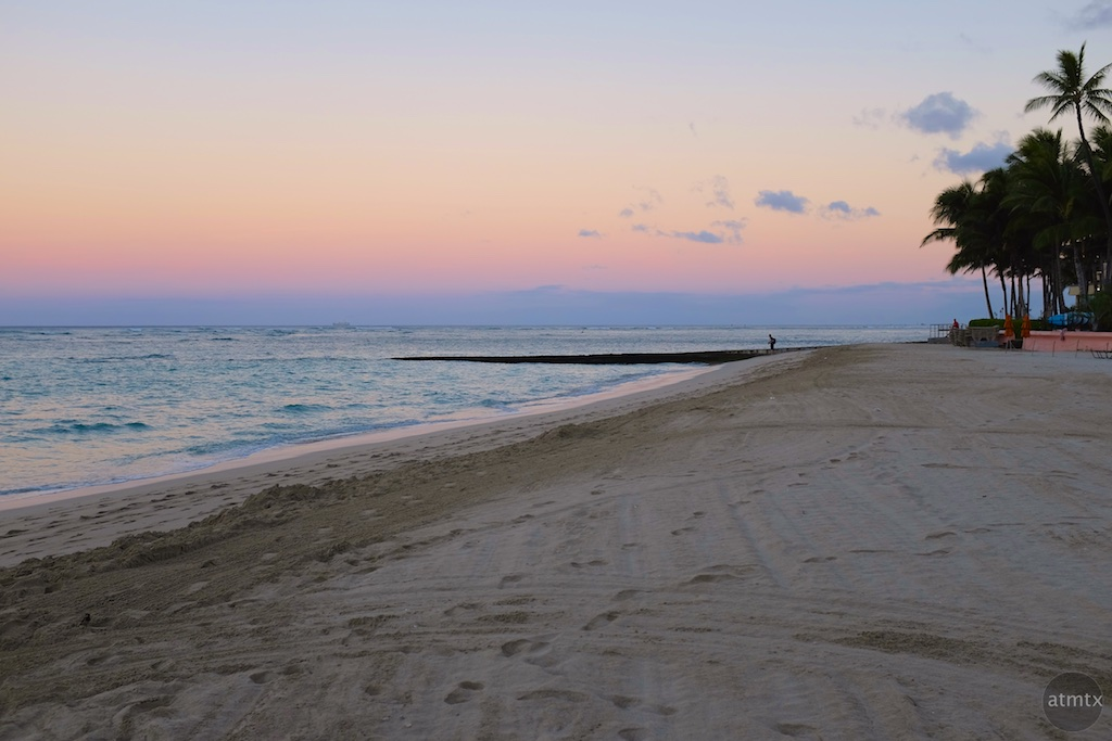 Morning Pastels, Waikiki Beach - Honolulu, Hawaii