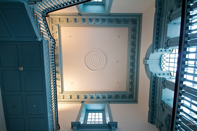 Stairs and Ceiling, Independence Hall - Philadelphia, Pennsylvania