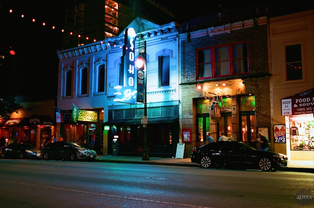 Soft Soho Glow, 6th Street- Austin, Texas