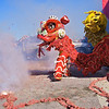 Lion Dance in Parking Lot, 2012 Chinese New Year Celebration - Austin, Texas