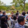 Tourists at Kinkakuji - Kyoto, Japan