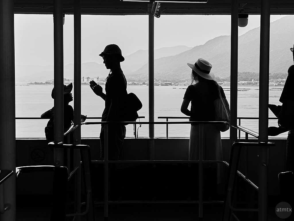 Ferryboat Silhouette - Miyajima, Japan