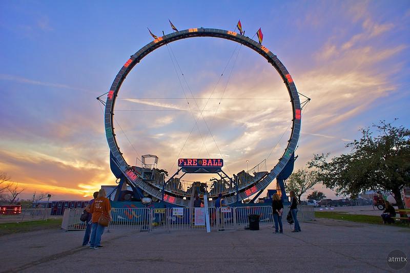 Fire Ball Sunset, Rodeo Austin - Austin, Texas