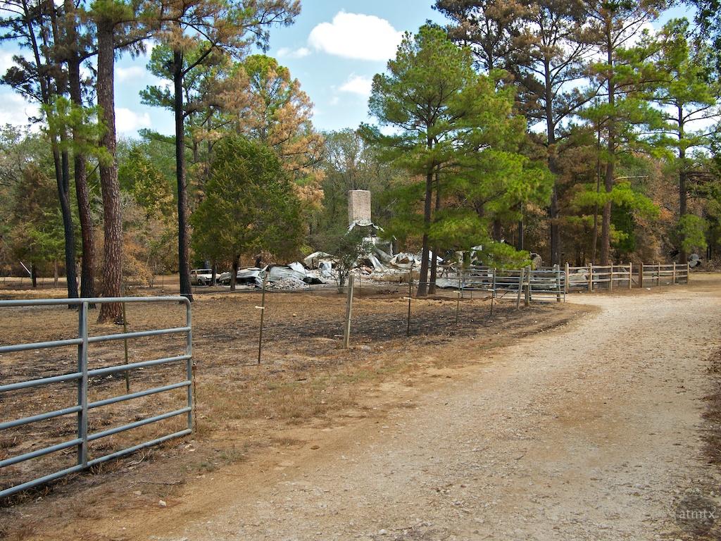 Neighbor's House, Bastrop Fire - Bastrop, Texas