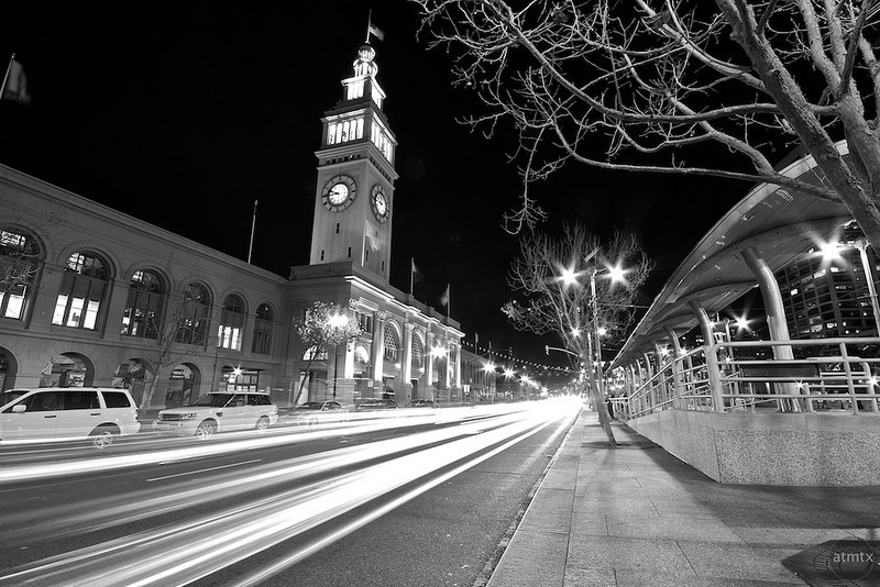Ferry Building Light Streaks - San Francisco, California
