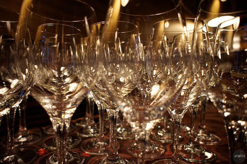 Overlapping Wine Glasses, Cypress Hotel - Cupertino, California