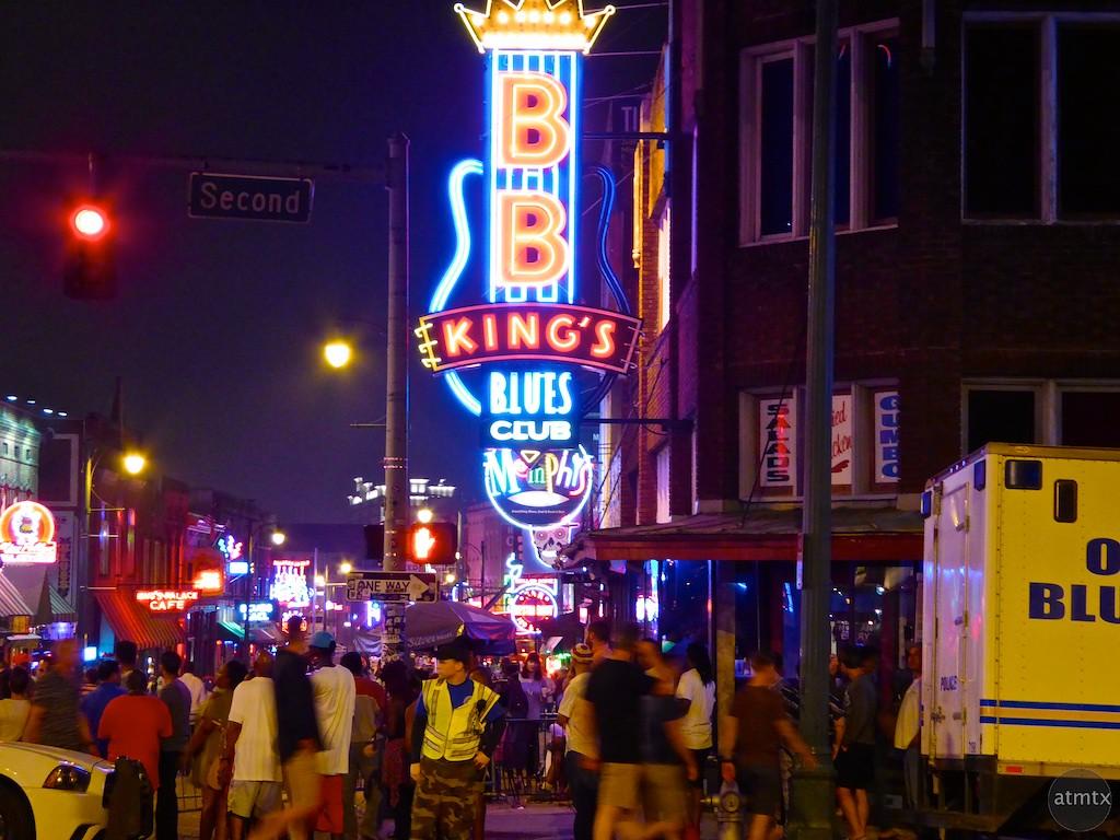 Beale Street Night Life - Memphis, Tennessee