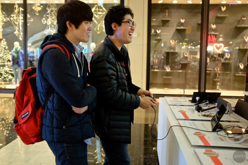 Enjoying the PS4, Westfield Mall - San Francisco, California