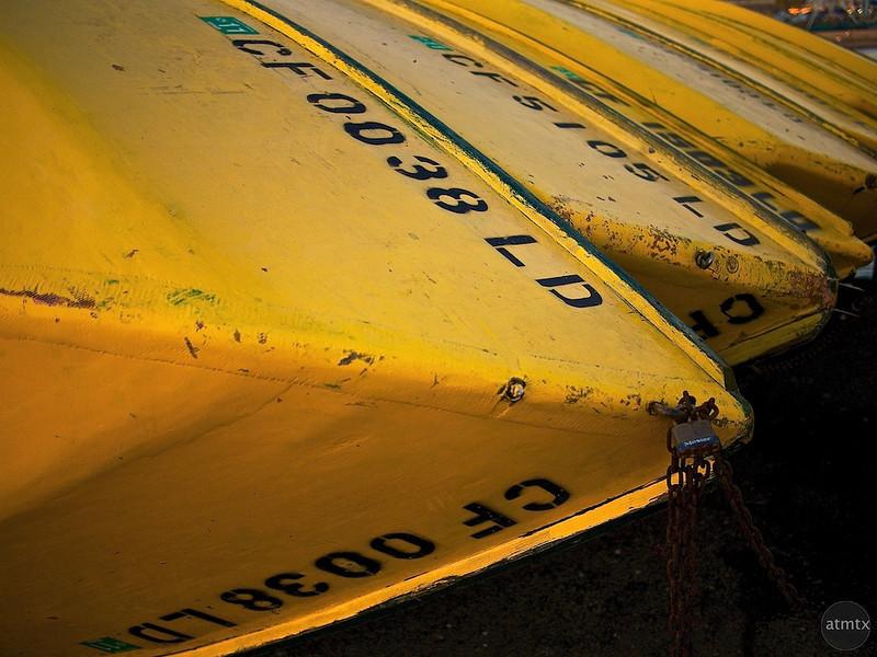 Sleeping Boats, Municipal Wharf - Santa Cruz, California
