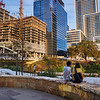 A Couple and a Growing Skyline - Austin, Texas