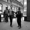 The Conversation, Market Street - San Francisco, California  (black and white)
