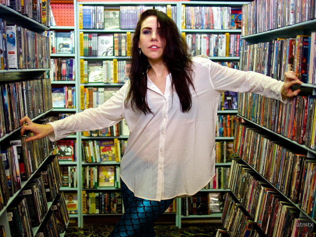 Caitlin in the Stacks - Austin, Texas
