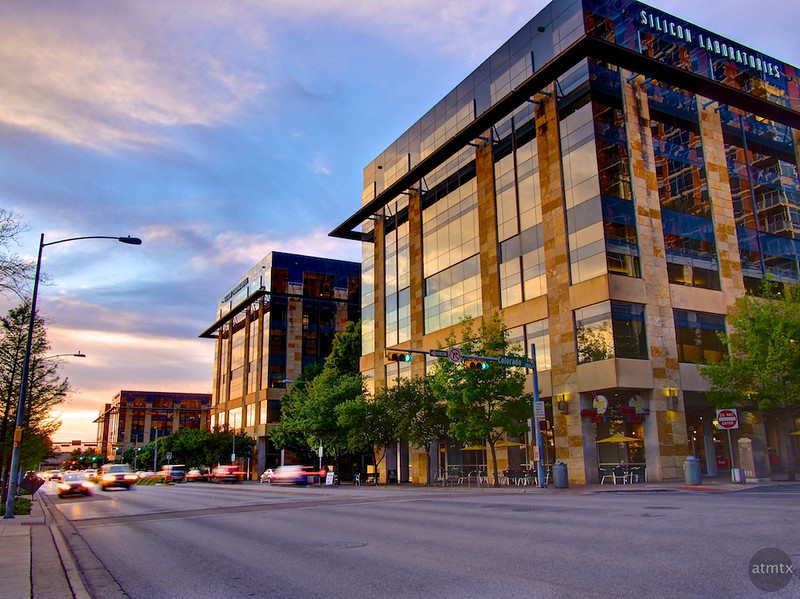 Silicon Laboratories Headquarters at Sunset - Austin, Texas