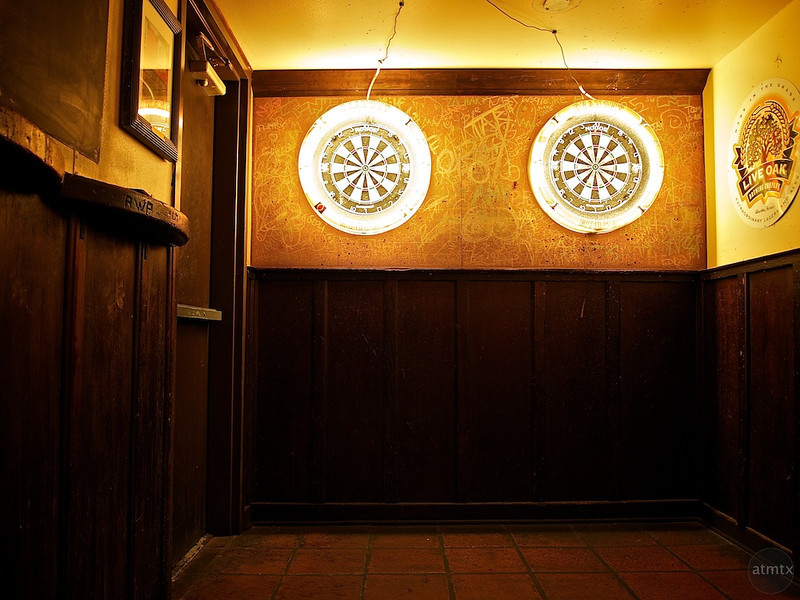 Glowing Dart Boards, Draught House Pub - Austin, Texas