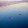A Pair of Tankers, California Coast - Los Angeles, California
