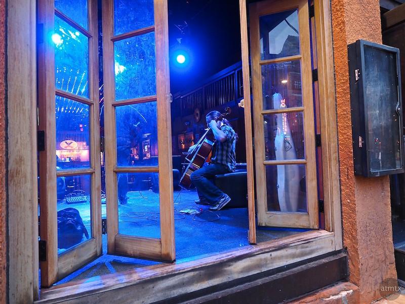 Blue Cello from the Street, 6th Street - Austin, Texas