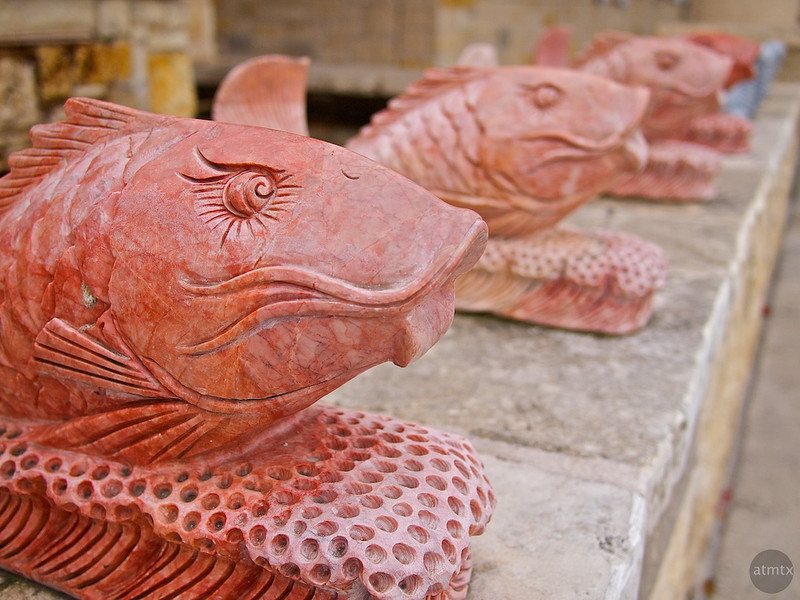 Stone Fishes, Chinatown Center - Austin, Texas