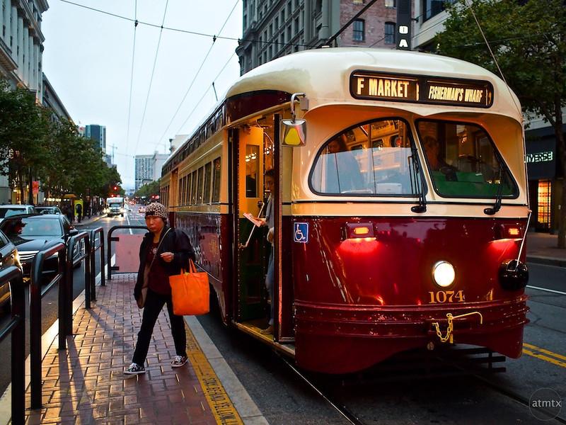 Getting Off, Market Street - San Francisco, California