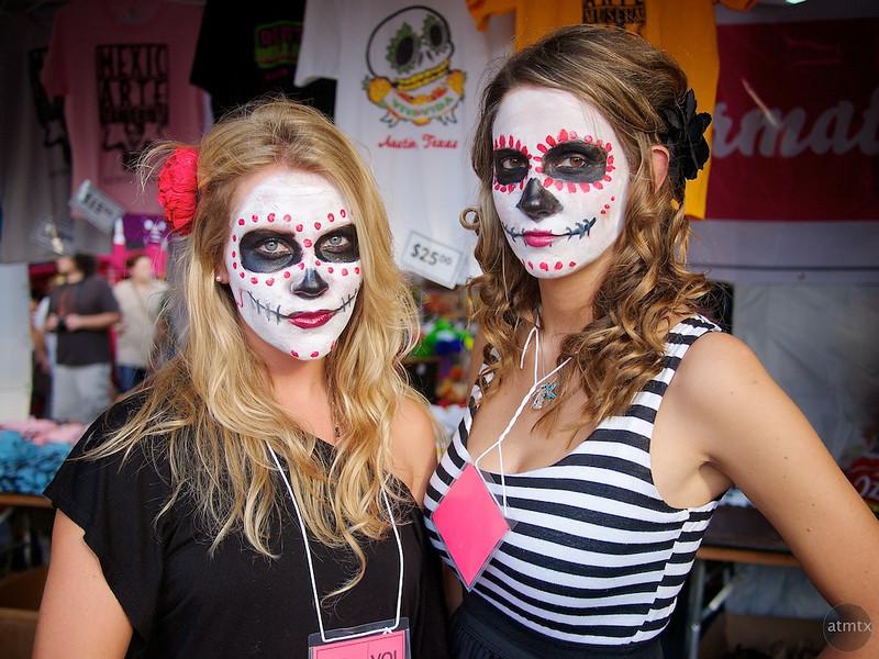 Casey and Lisa, Dia de los Muertos Booth - Austin, Texas
