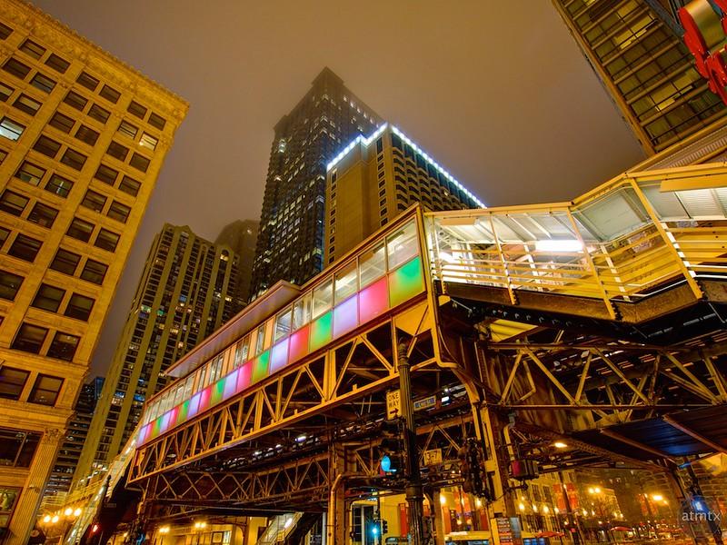 Colorful El Station - Chicago, Illinois
