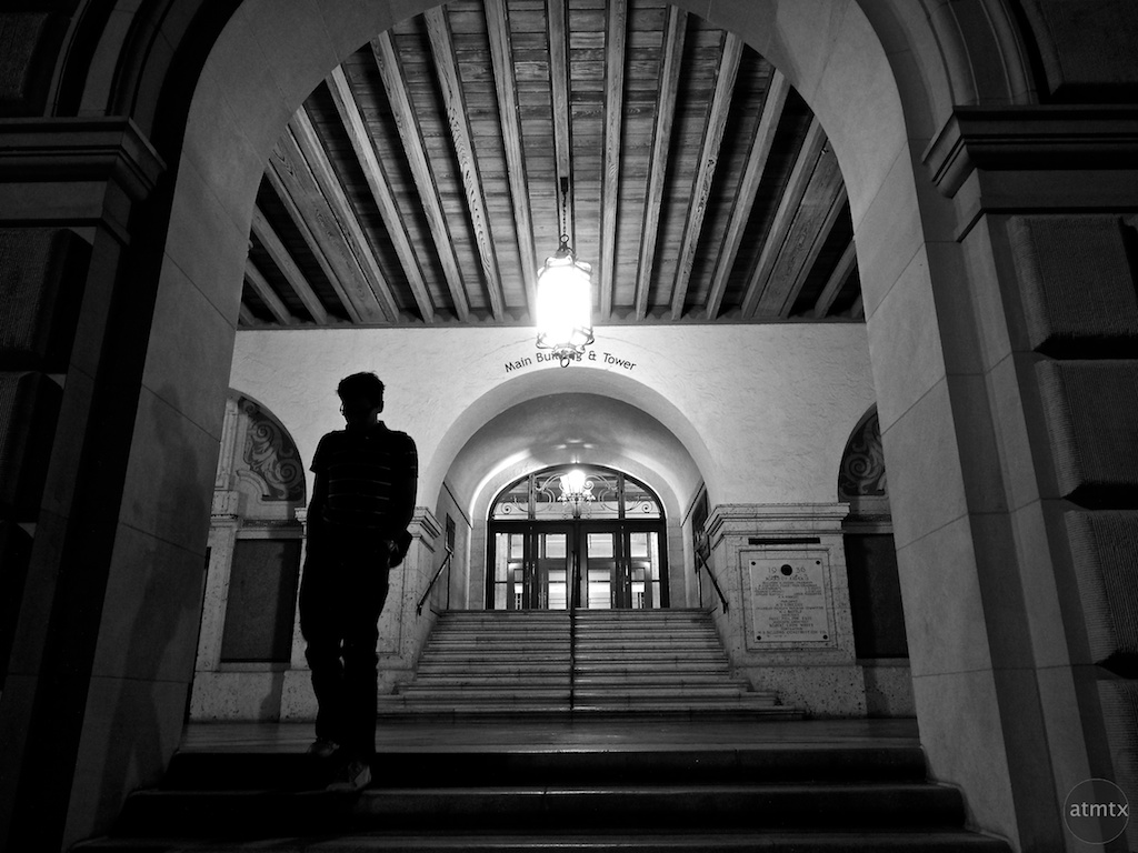Leaving the Main Building, University of Texas - Austin, Texas